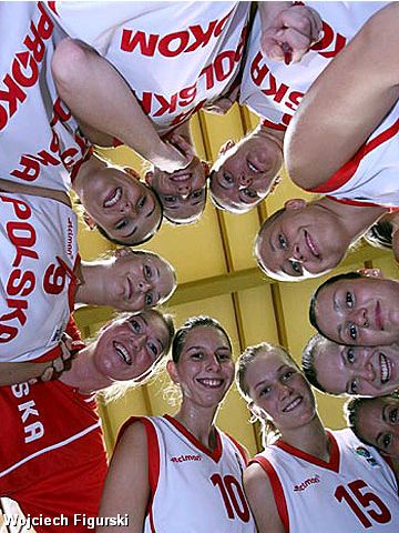 Poland's 2007 EuroBasket Women Qualifying Team
